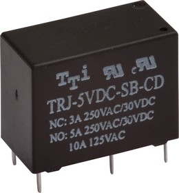 TRJ-5VDC-SA-CD-R, Реле 1пер. 5V / 5А, 250VAC