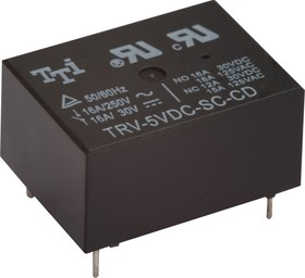TRV-9VDC-SC-CD-R, Реле 1пер. 9V / 16A, 250VA