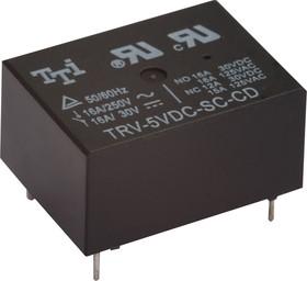 Фото 1/3 TRV-12VDC-SC-AL-R, Реле 1зам. 12V / 16A, 250VAC