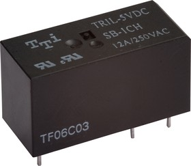 TRIL-5VDC-SD-1CH-R, Реле 1пер. 5V / 12A, 250VAC