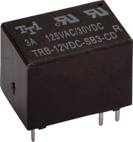 TRB-1-12VDC-SA-CL-R, Реле 1пер. 12V / 3A, 125VAC