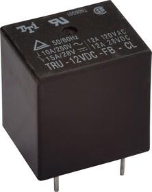TRU-12VDC-FB-CL, Реле 1пер. 12V / 10A, 250VAC (OBSOLETE)