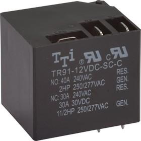 Фото 1/2 TR91-12VDC-SC-C, Реле 1пер. 12VDC / 40A, 240VAC