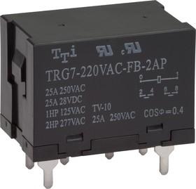 TRG7-220VAC-FB-2AP-R (TRG7-1-220VAC-FB-2AP-R) , Реле 2зам. 220 / 25A250VAC (OBSOLETE)