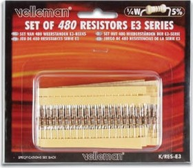 Фото 1/2 K/RES-E3, Набор резисторов 480шт ряд E3