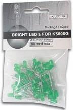 5020-50G (K/LEDHG), Набор светодиодов (50шт.) зеленый