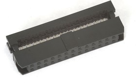 IDC2-26F (DS1017-26-N), Розетка 2.0мм на шлейф 26 pin без фиксатора кабеля