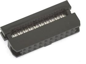 Фото 1/2 IDC2-20F (DS1017-20-N), Розетка 2.0мм на шлейф 20 pin без фиксатора кабеля