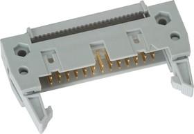 IDCC-26 (DS1012-26), Вилка 2.54мм на шлейф с защелкой
