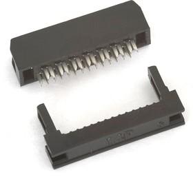 Фото 1/2 IDC2-14F (DS1017-14-N), Розетка 2.0мм на шлейф без фиксатора кабеля
