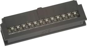 Фото 1/2 IDC1.27-50F (DS1016-01 50), Розетка 1.27мм на шлейф без фиксатора кабеля