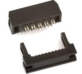 Фото 1/3 IDC2-10F (DS1017-10-N), Розетка 2.0мм на шлейф 10 pin без фиксатора кабеля