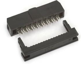 Фото 1/2 IDC2-16F (DS1017-16-N), Розетка 2.0мм на шлейф без фиксатора кабеля