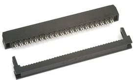 IDC2-40F (DS1017-40-N), Розетка 2.0мм на шлейф 40 pin без фиксатора кабеля