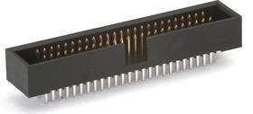 KLS1-202C-50-S-B (BH1.27-50), Вилка на плату прямая 50 конт. 1,27мм