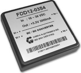 FDD12-05D4, DC/DC преобразователь, 12Вт, вход 10-36В, выход 24В(+-5В)/0.24А-1.2А