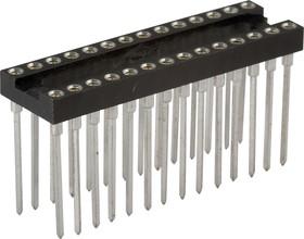 TRSL-28 (DS1007-28N), DIP панель 28-контактная цанговая узкая