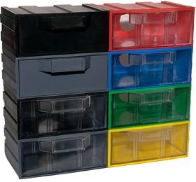 Фото 1/4 К1, Ячейки, цветной корпус прозрачный контейнер, 131х107х57мм