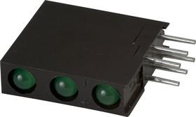 L-934RZ/3GD (L-7104RZ/3GD), 3 светодиода зеленый d=3мм 20мКд