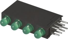 Фото 1/2 L-934SB/4GD, светодиодная сборка 4шт. зеленый d=3мм 15мКд