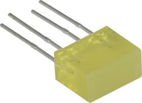 L-835/2YDT, Полоса световая желтая 5х10мм 10мКд