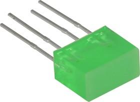 L-835/2GDT, Световая полоса зеленая 5х10мм 10мКд