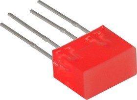 L-835/2IDT, Световая полоса красная 5х10мм 10мКд