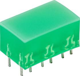 L-885/6GDT, Световая полоса зеленая 10х16мм 10мКд