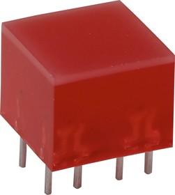 L-875/4SRDT, Полоса световая красная 10х10мм 60мКд