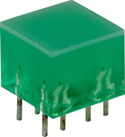 Фото 1/2 L-875/4GDT, светодиодная полоса зеленая 10х10мм 10мКд
