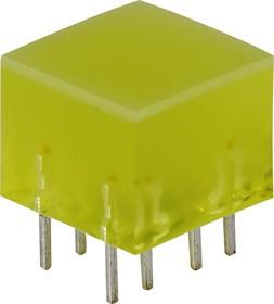 L-875/4YDT, Полоса световая желтая 10х10мм 10мКд