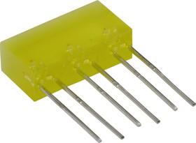 L-845/3YDT, Световая полоса желтая 5х16мм 10мКд