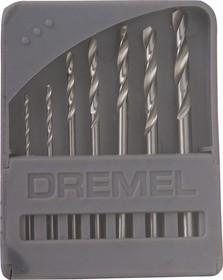 DREMEL 628, Набор сверл d=0.8-3.2мм (7 шт.)