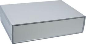 G735, Корпус для РЭА 300х200х75мм, пластик, темно-серый, светло-серая панель
