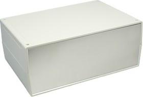 G754A, Корпус для РЭА 260х180х105мм, пластик, светло-серый, алюминиевая панель