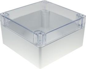 G287C, Корпус для РЭА 160х160х60мм, пластик, с прозрачной крышкой