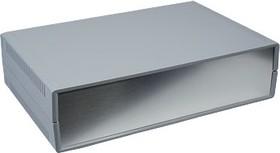 Фото 1/2 G735A, Корпус для РЭА 300х200х75мм, пластик, темно-серый, алюминиевая панель
