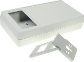 G968G(0)BC, Корпус мультиметра с отверстием под ЖКИ 180х100х40 мм, пластик, серый