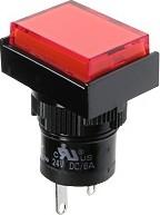 Фото 1/2 D16PLT1-000BR, Индикатор красный 14В/80мА