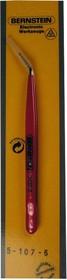 5-107-6, Пинцет универсальный в ПВХ изоляции, 150мм, изогнутый