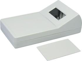 G1189G, Корпус для мультиметра с отверстием под ЖКИ, пластик, серый