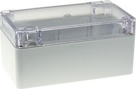 G205C, Корпус для РЭА, пластик, с прозрачной крышкой