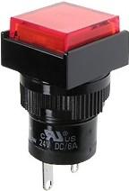 Фото 1/2 D16PLS1-000KR, Индикатор красный 24В/LED