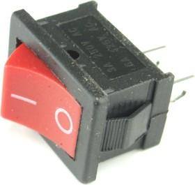 MRS-101-2C3-R, Переключатель ON-OFF (3A 250VAC) SPST 2P, красная клавиша