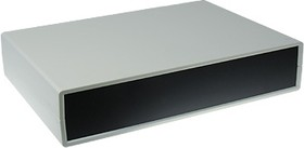 Фото 1/2 G750A, Корпус для РЭА 245х175х50мм, пластик, светло-серый, алюминиевая панель