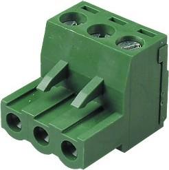 Фото 1/2 MC100-508-03P, клеммник винтовой, 3-контактный, 5.08мм, угловой