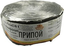 Фото 1/2 ПОС 61 Тр d=1.5мм 1 кг бобина, Припой