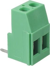 DG508R-02 (EK508R-02P), Клеммник 2-контактный, 5.08мм