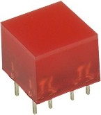 L-875/4IDT световая полоса красная 10х10мм 10мКд