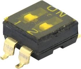 SBS1002 (ВДМ1-2) (SDMR-02-T), Переключатель DIP SMD, 2 контактных групп